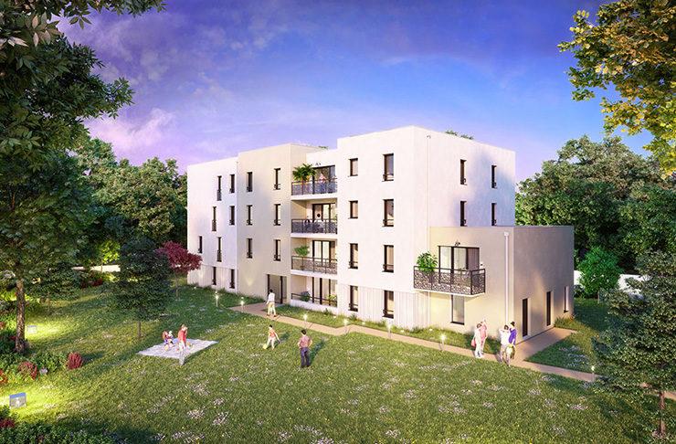 appartement neuf à vendre à Saint-Nazaire Loire-Atlantique avec jardin ou balcon