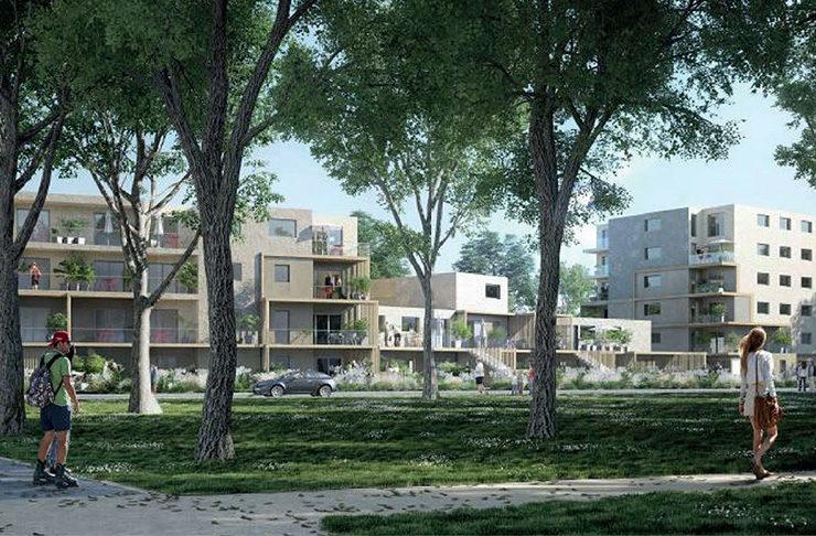 extérieur espaces verts appartement neuf Nantes erdre acaht immobilier investissement locatif