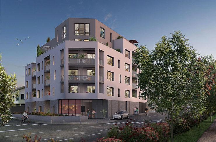 façade programme immobilier neuf nantes appartement achat vente Dervallières-Zola