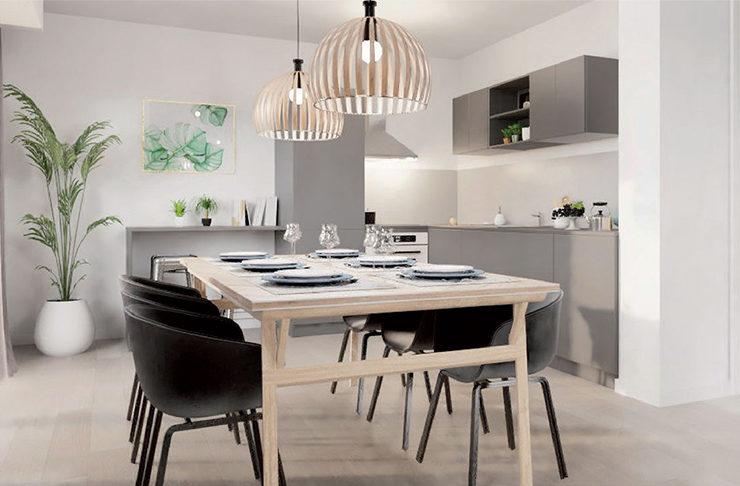 intérieur décoration appartement neuf Nantes Erdre achat immobilier