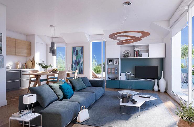 achat appartement Nantes erdre simulation intérieur