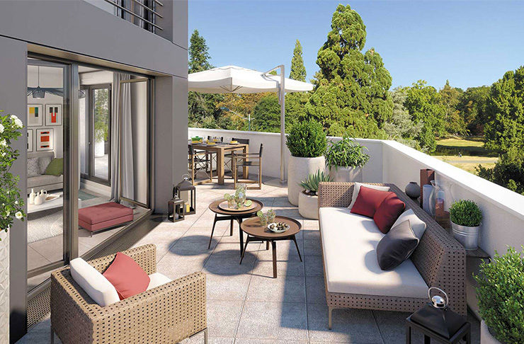 terrasse programme immobilier neuf nantes appartement achat vente Dervallières-Zola