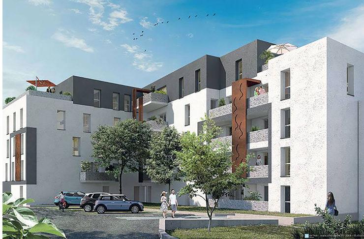 appartement neuf à vendre à Saint-Nazaire en investissement locatif Loi Pinel ou en prêt à taux zéro TVA réduite